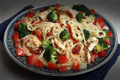 Chicken with Broccoli and Sun-Dried Tomatoes Recipe
