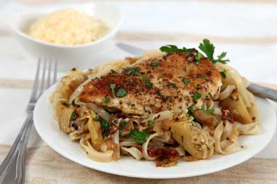 Lemon Chicken with Sun Dried Tomatoes  Recipe