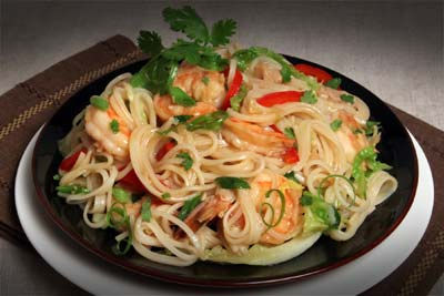 Notta Pasta with Seafood and Cabbage Recipe