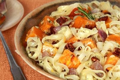 Roasted Butternut Squash with Notta Pasta  Recipe