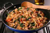 Spinach, Mushroom and Sausage Notta Pasta Recipe