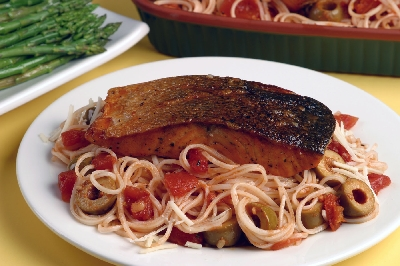 Picante Pasta with Salmon Recipe