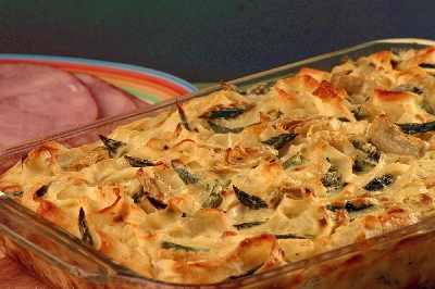 Cheesy Artichoke and Asparagus Bake Recipe