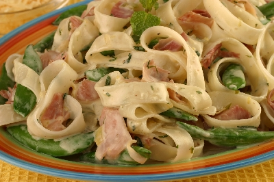 Sugar Snap Peas with Prosciutto and Mint Recipe
