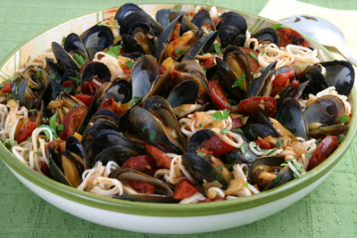 Mussels with Linguica  Recipe