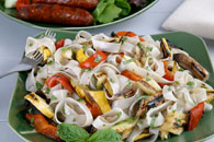 Grilled Vegetables with Pasta Recipe