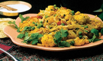 Curried Cauliflower and Chickpeas  Recipe